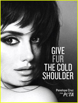 Penelope Cruz: PETA Anti-Fur Ad!