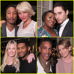 Cameron Diaz & Jared Leto Help Target Toast Pharrell Williams