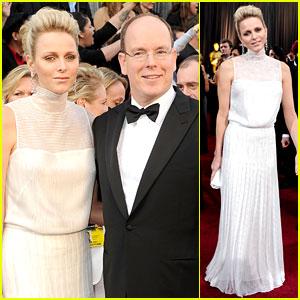 Princess Charlene & Prince Albert - Oscars 2012 Red Carpet