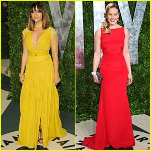 Rashida Jones & Abbie Cornish - Vanity Fair Oscar Party