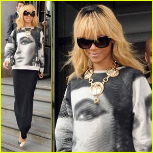 Rihanna: Elizabeth Taylor Sweatshirt!