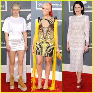 Robyn, Skylar Grey & Bonnie McKee - Grammys 2012 Red Carpet