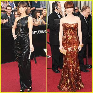 Rose Byrne & Ellie Kemper - Oscars 2012 Red Carpet