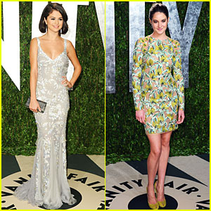 Selena Gomez & Shailene Woodley - Vanity Fair Oscar Party