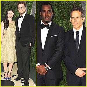Seth Rogen & Lauren Miller - Vanity Fair Oscar Party