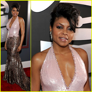 Taraji P. Henson - Grammys 2012 Red Carpet