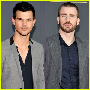 Taylor Lautner & Chris Evans: NFL Honors with Jon Hamm!