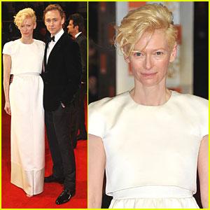 Tilda Swinton: BAFTAs 2012 Red Carpet with Tom Hiddleston!