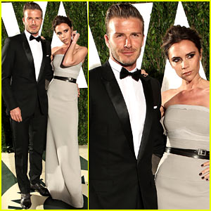 Victoria &#038; David Beckham - Vanity Fair Oscar Party