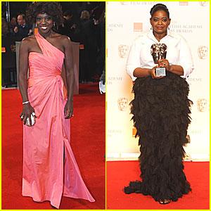 Viola Davis & Octavia Spencer - BAFTAs 2012 Red Carpet