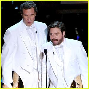 Will Ferrell & Zach Galifianakis - Oscars 2012 Presenters