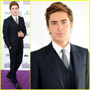 Zac Efron - Spirit Awards 2012 Red Carpet