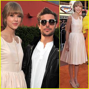 Zac Efron & Taylor Swift: 'Lorax' Premiere Pair!