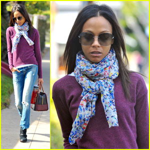 Zoe Saldana: Errands in L.A.