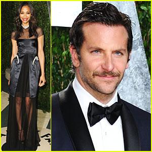 Zoe Saldana & Bradley Cooper - Vanity Fair Oscar Party