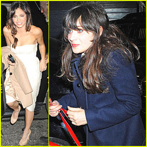 Zooey Deschanel & Jenna Dewan: SNL After Party!