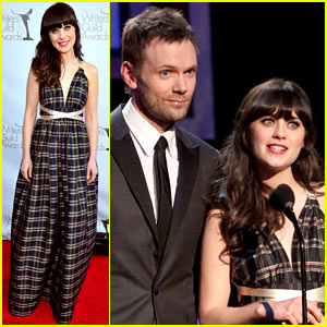 Zooey Deschanel: Writer's Guild Awards with Joel McHale!
