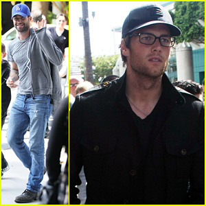 Adam Levine & Tom Brady: Lakers Bros!
