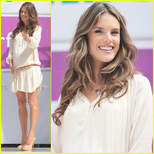 Alessandra Ambrosio: Phillips Satin Fashion Event!