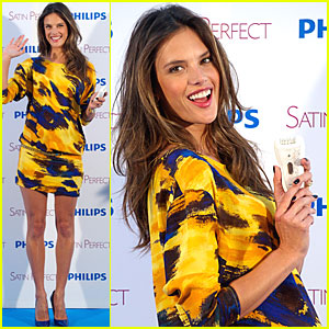 Alessandra Ambrosio: Satin Perfect in Spain!