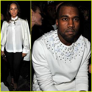 Alicia Keys & Kanye West: Givenchy Paris Presentation!