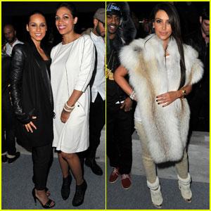 Alicia Keys & Rosario Dawson: Kanye West Fashion Show!