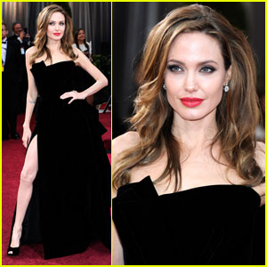 Angelina Jolie Addresses Leg-Baring Oscar Pose