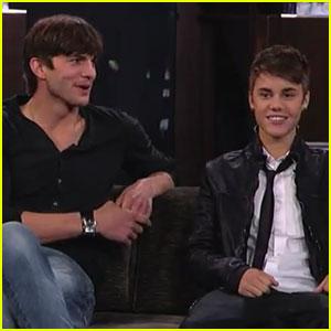 Ashton Kutcher & Justin Bieber: 'Jimmy Kimmel Live'!