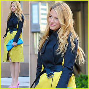 Blake Lively: Mellow in Yellow for 'Gossip Girl'!