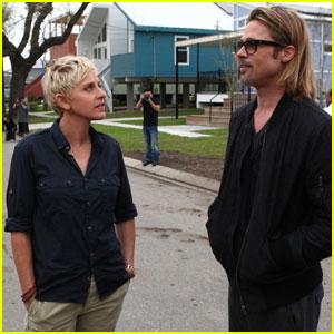 Brad Pitt's 'Ellen' Interview in New Orleans - Watch Now!