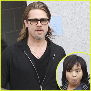 Brad Pitt & Maddox: Guitar Guys!