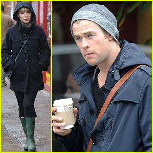 Chris Hemsworth & Elsa Pataky: Rainy Sunday Shopping
