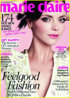 Christina Ricci Covers 'Marie Claire UK' April 2012