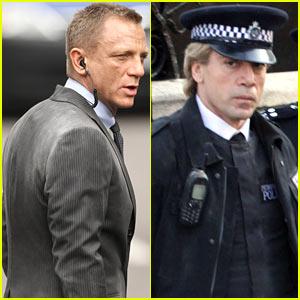 Daniel Craig & Javier Bardem: 'Skyfall' Set!