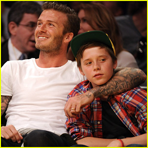 David Beckham: Lakers Game with Birthday Boy Brooklyn!