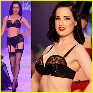 Dita Von Teese Rocks The Runway!