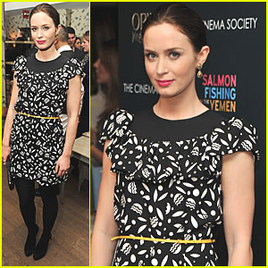 Emily Blunt: Cinema Society 'Salmon Fishing' Screening!