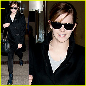 Emma Watson: All Smiles At LAX!