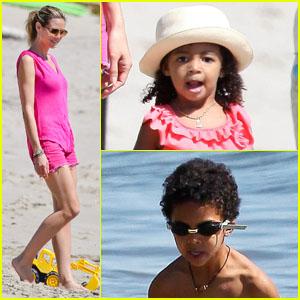 Heidi Klum: Paradise Cove with the Family!