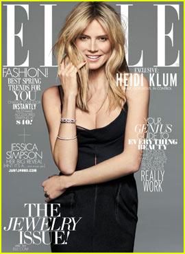 Heidi Klum Covers 'Elle' April 2012 - Exclusive