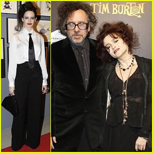 Helena Bonham Carter: Tim Burton Exhibition with Eva Green!