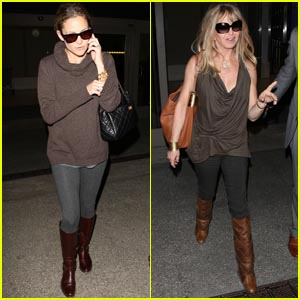 Kate Hudson & Goldie Hawn: Back from London