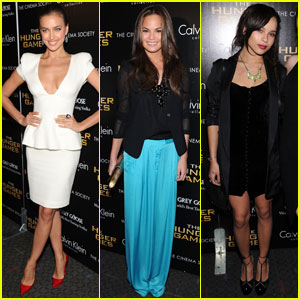 Irina Shayk & Chrissy Teigen: 'Hunger Games' Screening!