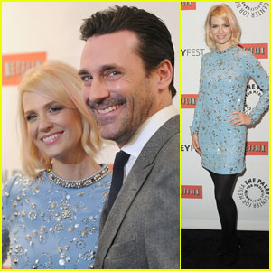 January Jones & Jon Hamm: 'Mad Men' at PaleyFest!