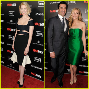 January Jones & Jon Hamm: 'Mad Men' Season 5 Premiere!