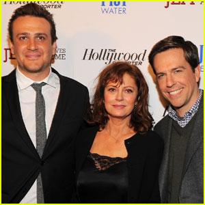 Jason Segel, Susan Sarandon & Ed Helms Screen 'Jeff' in NYC