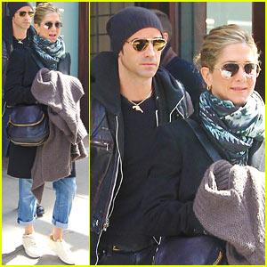 Jennifer Aniston & Justin Theroux: Hotel Check Out!