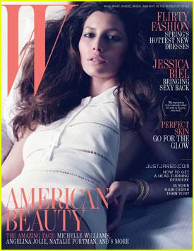 Jessica Biel Covers 'W' April 2012