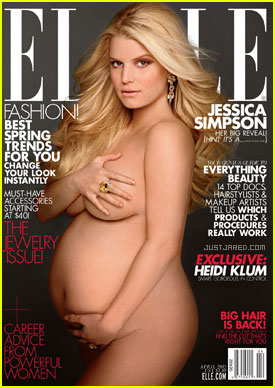 Jessica Simpson: Nude & Pregnant on 'Elle' Cover!