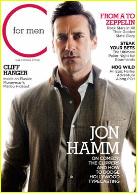 Jon Hamm Covers 'C for Men' Spring 2012